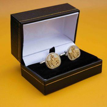 Royal Charter Silver Cufflinks